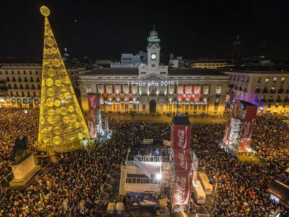 New Yer's Eve celebration in Puerta del Sol in 2015.