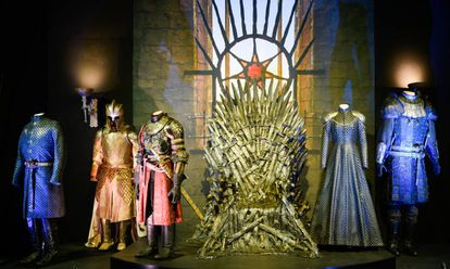 The Iron Throne room at the exhibition.