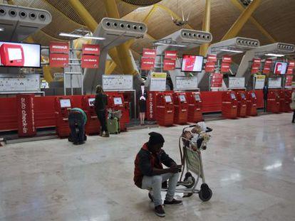Terminal 4 at Madrid Barajas airport.