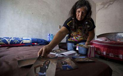 Rita Magaña, mother of  María Mariscal, kidnapped since December 2013.
