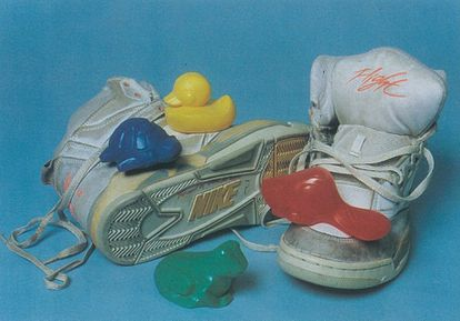 Bath toys from the 1992 spill and Nike sneakers from an earlier accident.