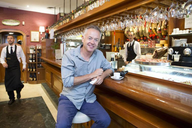 Michael Winterbottom takes a break from filming in Malaga.