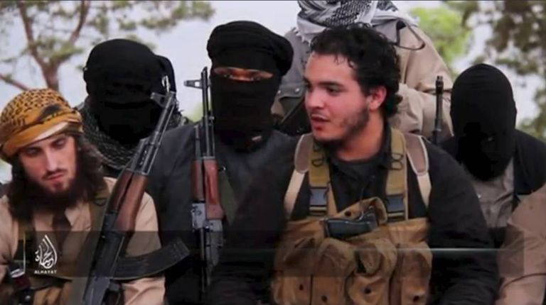 Still shot of an ISIS video showing European jihadists.