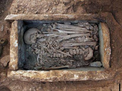 A burial at the La Bastida dig in Murcia.