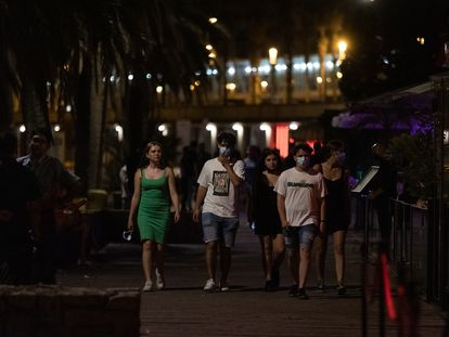 Youngsters on the streets of Barcelona this week.