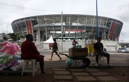 The Itaipava Arena Fonte Nova, which will host matches during the 2014 Fifa World Cup, which begins on June 12.