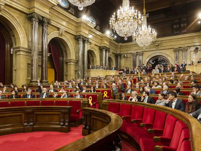 The Catalan parliament on Thursday.