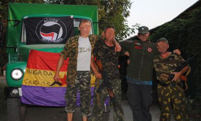 Members of the Carlos Palomino International Brigade.