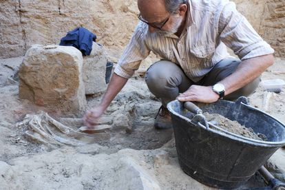 Sebastián Celestino, one of the excavation's leading archaeologists.