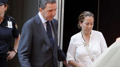 Florencia Maté, the wife of Gowex founder Jenaro García, leaves court in July.