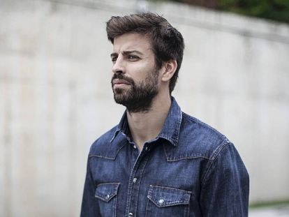 Gerard Piqué, Barça star and president of Kosmos, interviewed in Barcelona.