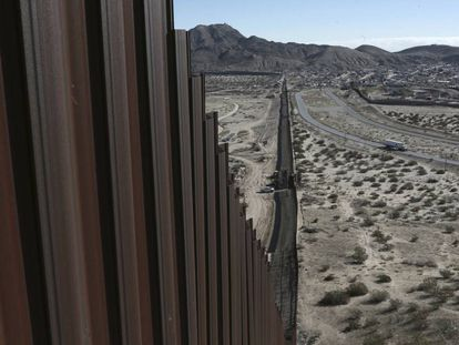 The US-Mexico border in New Mexico.