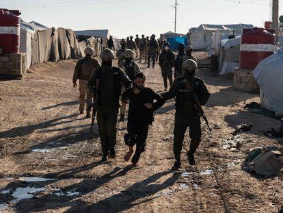 Operation against jihadists at Al-Hol camp on Sunday.
