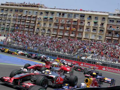 The Valencia region spent billions on special events, such as the European Grand Prix.