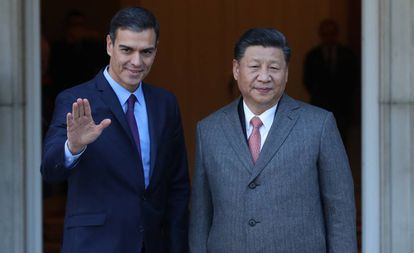 Spain's Pedro Sánchez and China's Xi Jinping in Madrid.