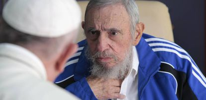 Pope Francis with Fidel Castro in Havana, in 2015.