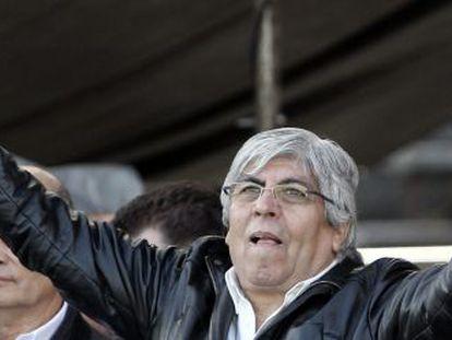 Union leader Hugo Moyano in a 2012 photo.