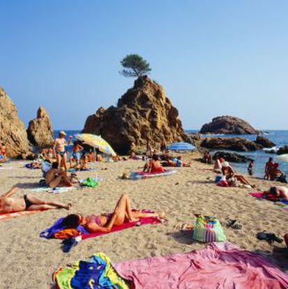 Playa de La Mar Menuda, Tossa de Mar, Girona.