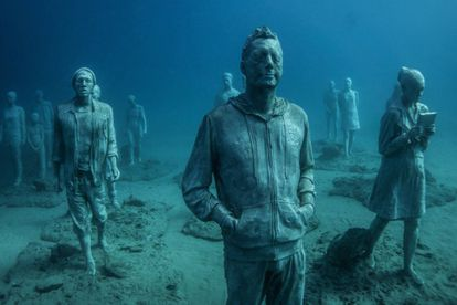 Some of the underwater sculptures created by Jason deCaires Taylor.