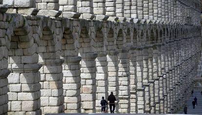 The Segovia Aqueduct.