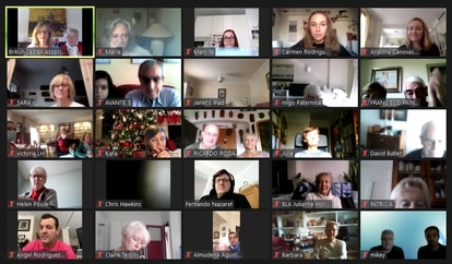 Screenshot of the virtual event of the British Ladies Association.
