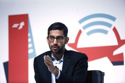 Google's Sundar Pichai unveiled the firm's plans to develop a mobile carrier at the WMC in Barcelona.