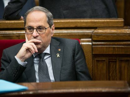 Catalan premier Quim Torra.