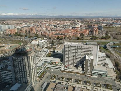 Madrid's La Paz hospital, where the body was discovered.