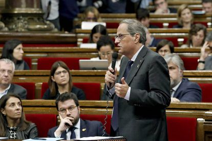 Catalan regional premier Quim Torra, who is a hardline supporter of independence.