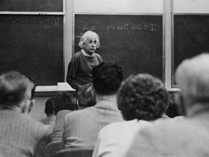 Albert Einstein at Princeton University in 1933.