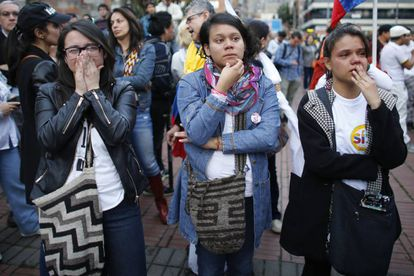 Disappointed voters in Bogotá, Colombia.
