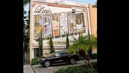 A mural on Calle Ocho, the heart of Little Havana.