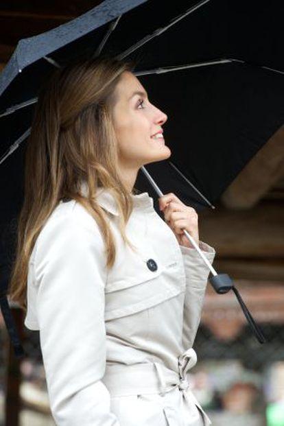 Princess Letizia in Asturias in 2012.
