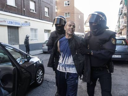 File image of Lahcen Ikasrrien, arrested in 2014 and found guilty of sending combatants to Syria.