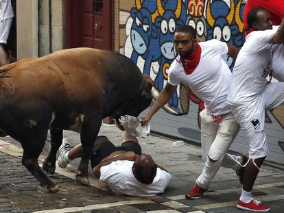 The second Running of the Bulls. (VIDEO: 7del7).