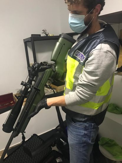 One of the weapons seized in Operation Testudo.
