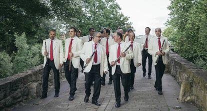 The municipal orchestra, La Pamplonesa, the authentic soundtrack of Sanfermines.