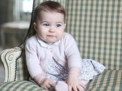 Princess Charlotte in a photograph taken by her mother, the Duchess of Cambridge.