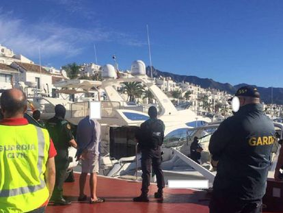 Spanish police arrest an Irish national last September in Marbella.