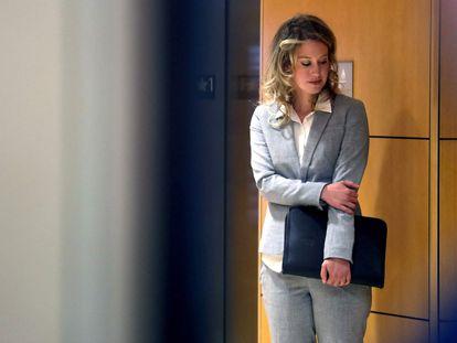 Theranos founder Elizabeth Holmes in federal court in San José, California in 2019.
