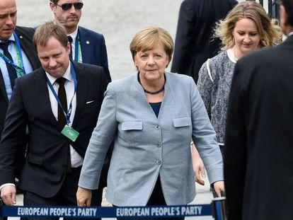 German Chancellor Angela Merkel in Brussels.