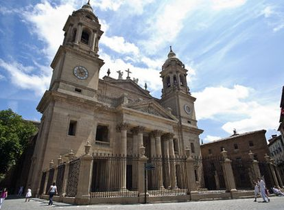 The restoration work on Navarre's cathedral was paid for with public funds before the Church registered the property.