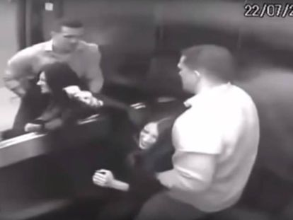The video showing the moments before the victim's death (Spanish captions).