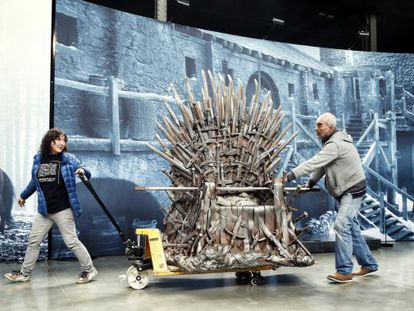 A replica of the Iron Throne, which visitors will be allowed to sit on.