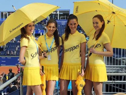 Hostesses during the last year's Barcelona Tennis Open.