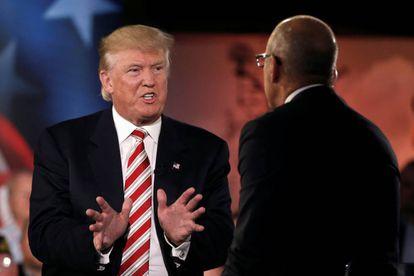 Donald Trump speaking on NBC on Wednesday.