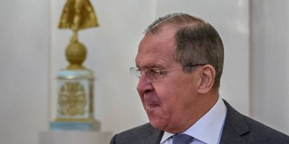 Russian foreign minister, Sergei Lavrov, this Thursday in Madrid.