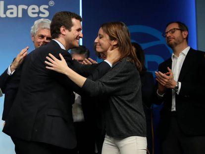 Pablo Casado after the general election on Sunday.