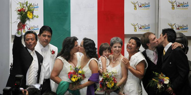 One of the first same-sex marriages held in Mexico City in March 2010.