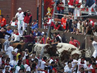 This interactive video will give you a unique view of the first day of San Fermín 2016